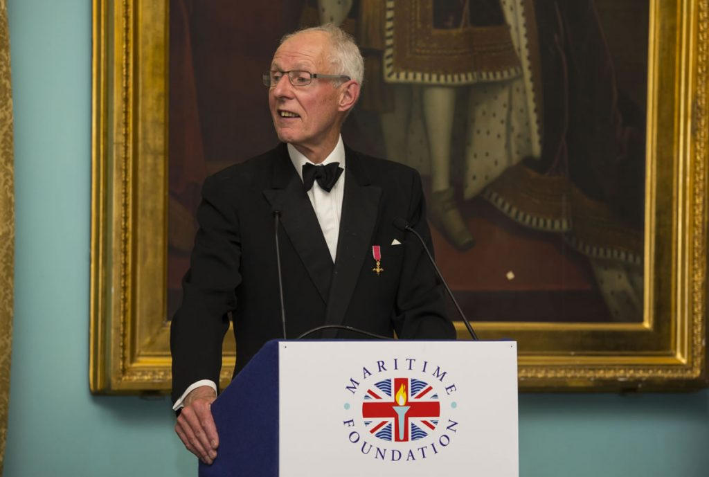 Julian Parker announcing at the Maritime Media Awards 2016